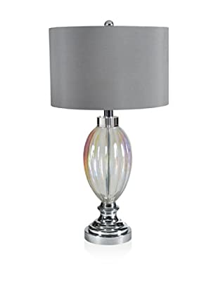 Table Lamp (Silver Clear Glass)