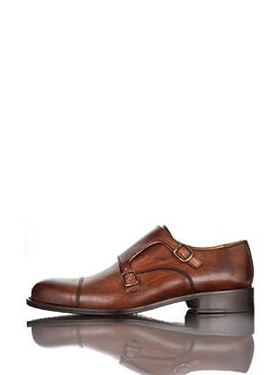 British Passport Zapatos Hebillas (Marrón)