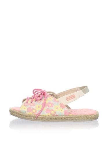 Pampili Kid's Laced Slingback Sandal (Sand/Peach)