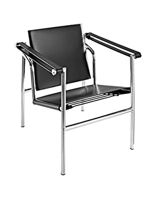 Modway Charles Leather Lounge Chair (Black)