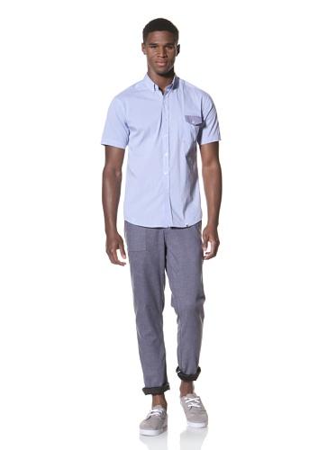 SLDVR Men's Fowler Button-Front Shirt (Light Blue)