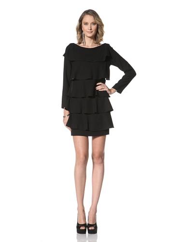 Paul & Joe Women's Isadora Long Sleeve Tiered Dress (Black)