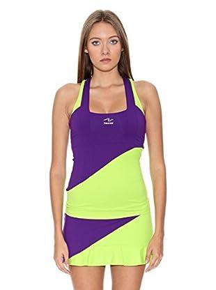Naffta Camiseta Tenis / Padel (Purpura / Pistacho Claro)