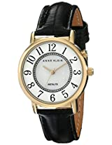 Anne Klein Womens AK/1966MPBI Easy To Read Backlight Function Dial Black Leather Strap Watch