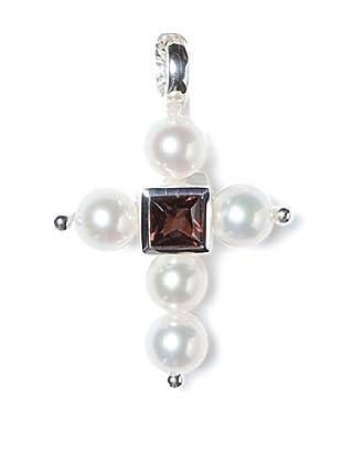 Alraune Anhänger Kreuz Silber Granat