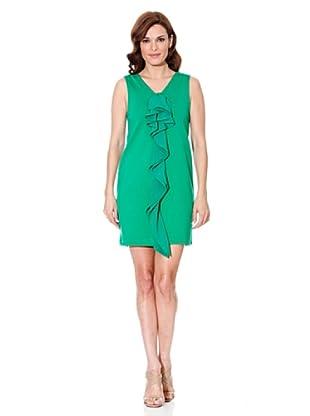 Cortefiel Kleid Rüschen (Grün)