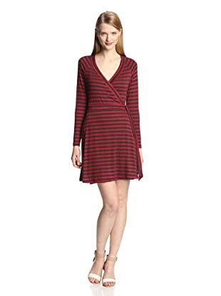 Tart Women's Marie Dress (Ruby Charcoal Stripe)
