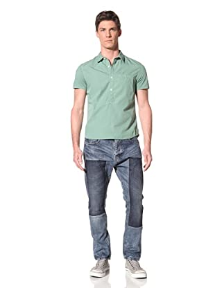 Edun Men's Mixed Media Polo (Aloe)