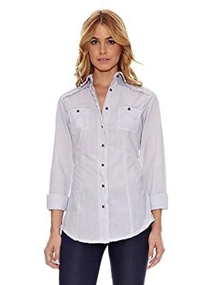 RARE Camisa Amanda (Blanco / Azul Marino)