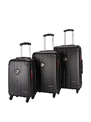 TRAVEL WORLD Set de 3 trolleys rígidos LIS