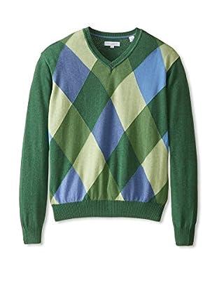 Alex Cannon Men's Diamond V-Neck Spring Sweater