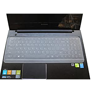 "Semi-Transparent Universal Silicone Keyboard Protector Cover Skin for Laptop Notebook 15"" 15.6"" 16"" 16.4"" 17"" 17.1"" 17.3"" inch"