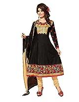 Cotton Printed Black Anarkali Suit - ZB07