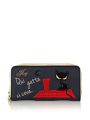 Hoy Collection Portafoglio Priscilla Black Cat (Blu)