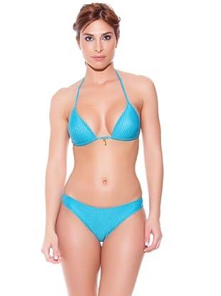 Teleno Bikini Triángulo Con Foam (Turquesa)
