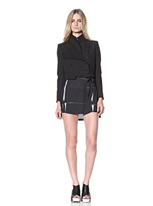 Ann Demeulemeester Women's Military Style Cropped Jacket (Black)