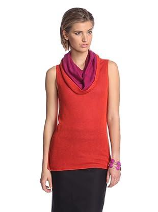 Josie Natori Women's Kiya Sweater (Mandarin Orange)