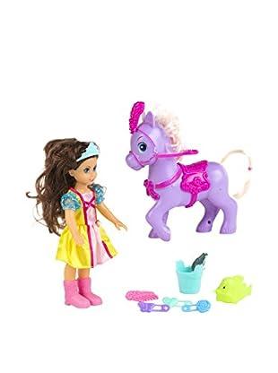 Color Baby  Muñeca y Pony Con Accesorios Elsie