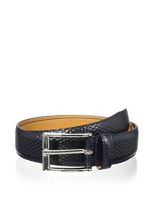 Leone Braconi Men's Calfskin Belt (Navy)