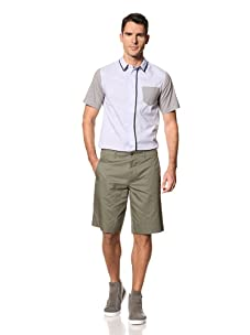 Yigal Azrouël Men's Washed Cotton Shorts (Cypress Military Green)