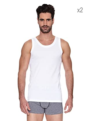 Dim Pack X 2 Camiseta Sport Tirante Ancho (Blanco)