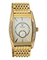 Titan Tycoon Analog Gold Dial Men's Watch - NC1527YM02
