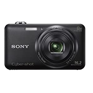 Sony Cyber-shot DSC-WX60/BC E32 16.2MP Point-and-Shoot Digital Camera (Black) with Camera Case