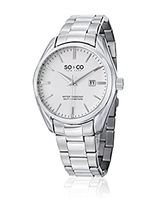 SO&CO NEW YORK Quarzuhr Madison silber 42 mm