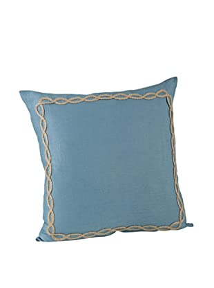 Saro Lifestyle French Blue Portofino Square Pillow