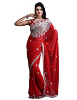 Bharat Plaza Cream Festive Saree