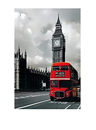 ArtopWeb Panel de Madera London Bus Westminster 60x90 cm