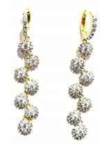 Shingar Ksvk Jewels Cubic Zirconia Earrings Danglers For Women (9094-ead-bali-b)