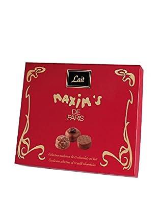 Maxim's de Paris Box of 12 Assorted Milk Chocolates