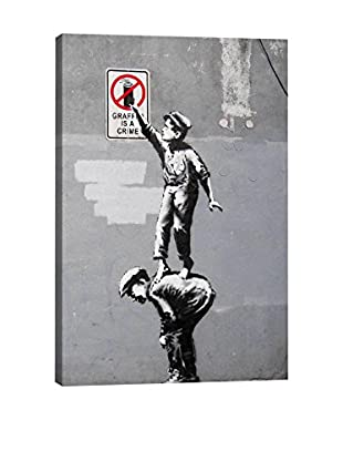 Banksy The Street Is In Play (Full) Gallery Wrapped Canvas Print