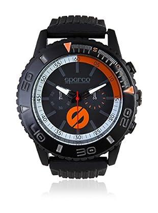 Sparco Uhr Jackie schwarz/orange 42 mm