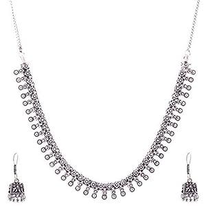 The Crazy Neck Oxidised Silver Neck Piece jewellery Set