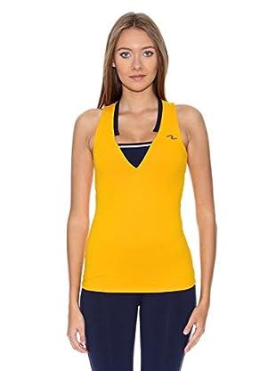 Naffta Camiseta Active / Gym (Mostaza / Azul Marino)