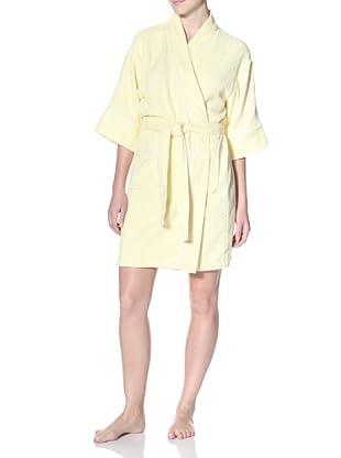 Aegean Apparel Women's Terry Kimono Robe (Yellow/Yellow)
