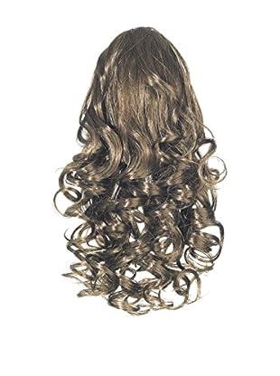 Love Hair Extensions Kunsthaar-Pferdeschwanz Curly mit Krokodilklemme 30,5cm, 6 Dark Ash Brown