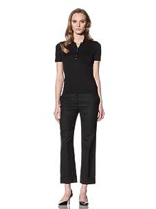 Loro Piana Women's Stretch Knit Polo (Black)