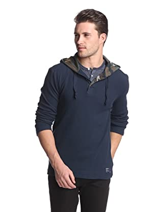 Union Jeans Men's Iron Horse Henley Hoodie (After Midnight)