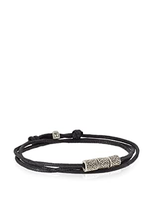 Griffin Black Oxidized Silver Bowery Convertible Triple Wrap Bracelet
