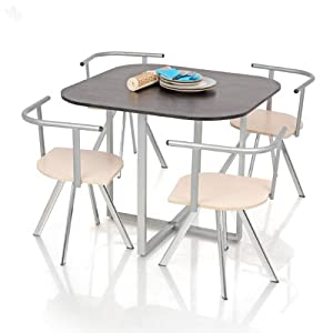 Dining Table Set with 4 Chairs - Crestwood Black