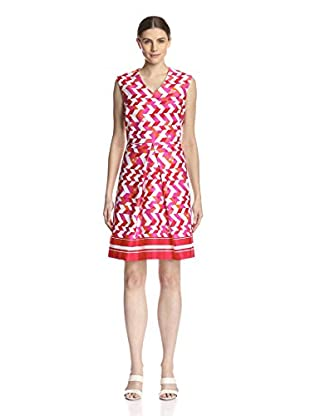 Sandra Darren Women's Printed Fit and Flare Dress