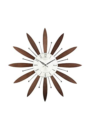 Mid Century Modern Floral Clock