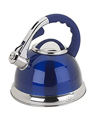 Lenox 2.5-Qt. Blue Stainless Steel Whistling Tea Kettle
