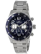 Invicta Men's 12911 Pro Diver Chronograph Dark Blue Textured Dial Stainless Steel Watch