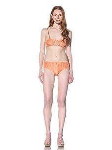 MARNI Women's Lace-Trimmed Demi Bra (apricot)