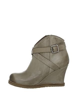Buffalo London ES 30149 GARDA 137137 - Botines fashion de cuero para mujer (Gris)