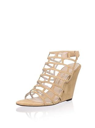 Jean-Michel Cazabat Women's Pia Wedge Sandal (Toffee Suede)